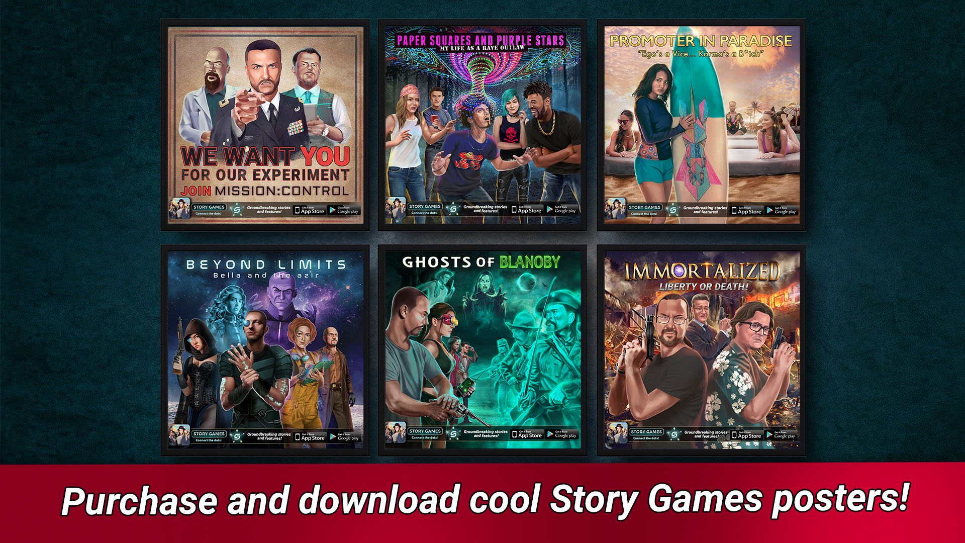 Story Games Poster Prints