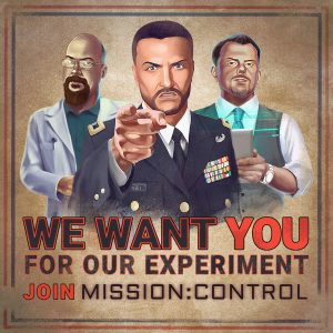 Awesome Story Games Poster – Mission: Control – We Want You